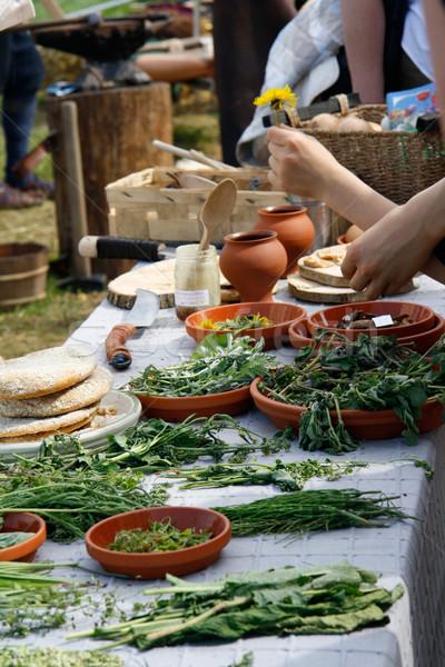 市場 クローズアップ 市場 スタンド ハーブ 食品 ストックフォト © Saphira