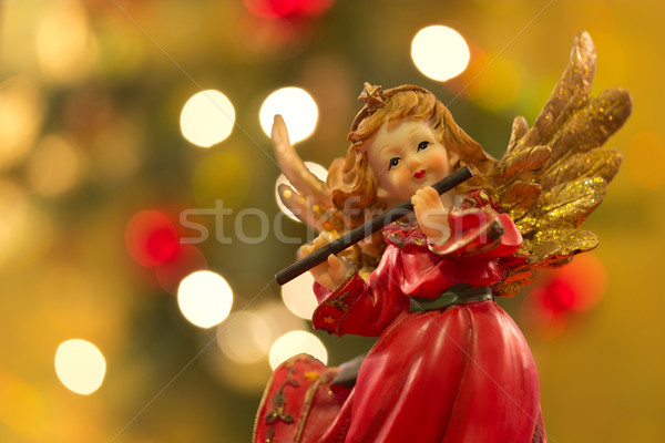 Angel with flute Stock photo © Saphira