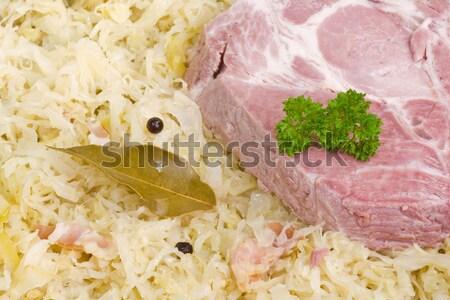 Pişmiş lâhana turşusu kaburga et Stok fotoğraf © Saphira