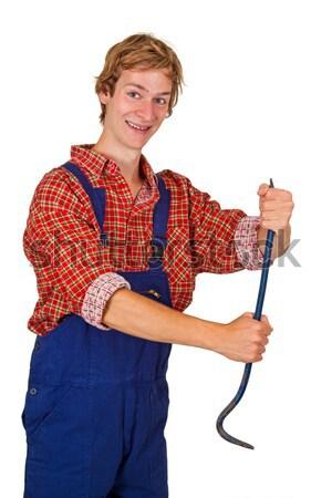 Open jonge man glimlach man werk Stockfoto © Saphira