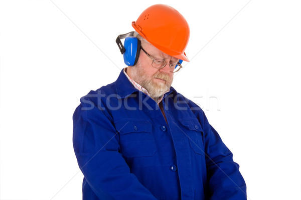 Workman with hearing protector Stock photo © Saphira