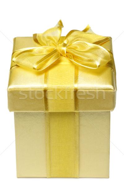 Golden giftbox Stock photo © Saphira