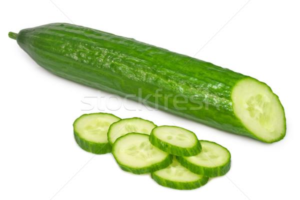Komkommer geïsoleerd witte voedsel Stockfoto © Saphira