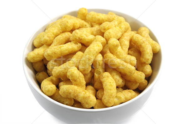 Amendoim dourado tigela branco comida Foto stock © Saphira