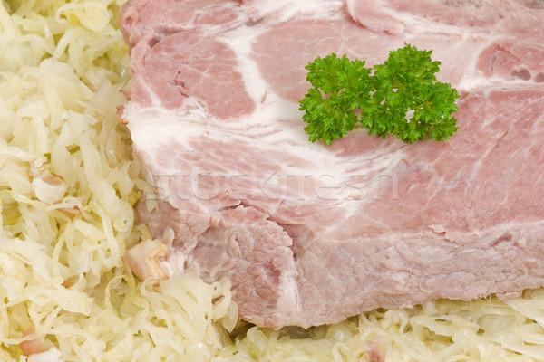 ザウアークラウト 調理済みの リブ リブ 肉 ストックフォト © Saphira