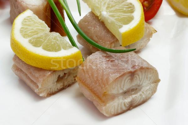 魚 前菜 ピース 薫製 ウナギ プレート ストックフォト © Saphira