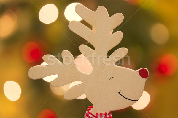 トナカイ 頭 背景 おもちゃ クリスマス お祝い ストックフォト © Saphira