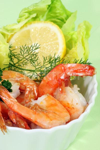 調理済みの レモン レタス ボウル キッチン 料理 ストックフォト © Saphira
