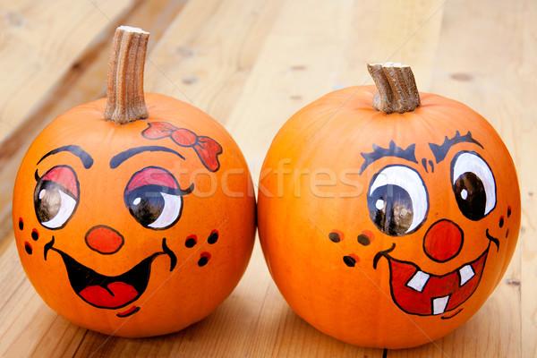 Painted pumpkins Stock photo © Saphira