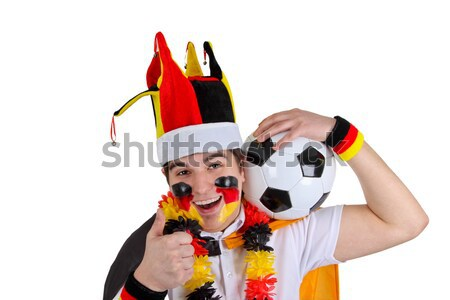 Exalted german soccer fan Stock photo © Saphira