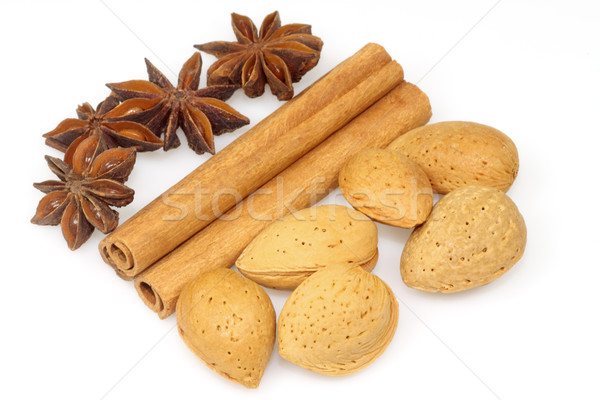 Cinnamon - anise - almonds Stock photo © Saphira