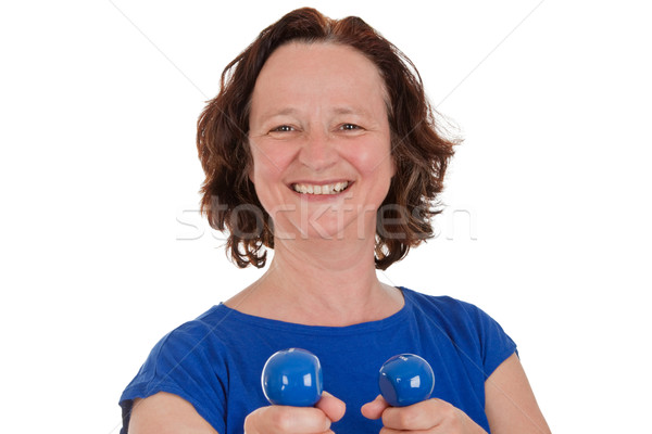 Woman with dumbbells Stock photo © Saphira
