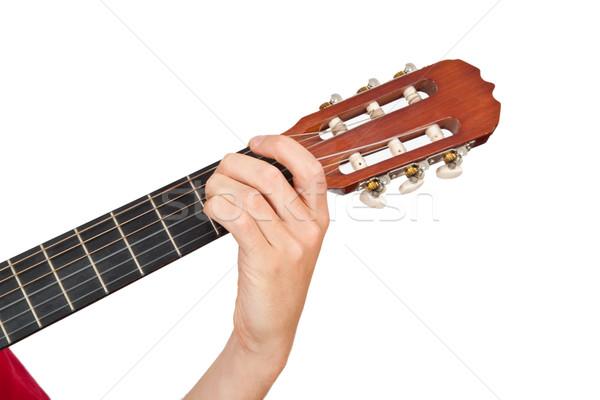 演奏 ギター 手 音楽 男 ストックフォト © Saphira