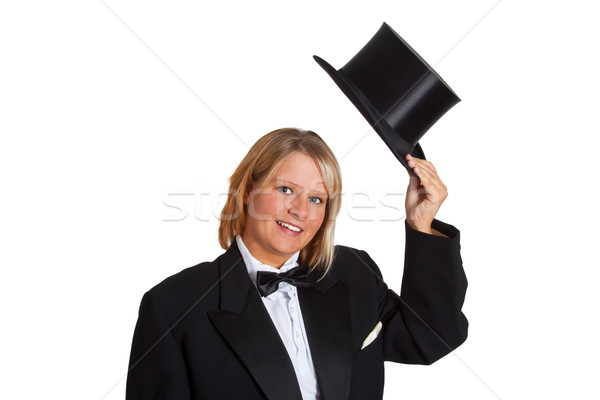 Young woman in a tailcoat Stock photo © Saphira