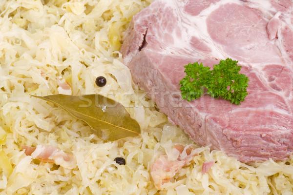 Savanyú káposzta vesepecsenye borda főtt borda hús Stock fotó © Saphira
