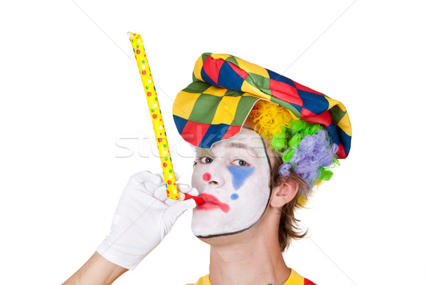 Clown with whistle Stock photo © Saphira