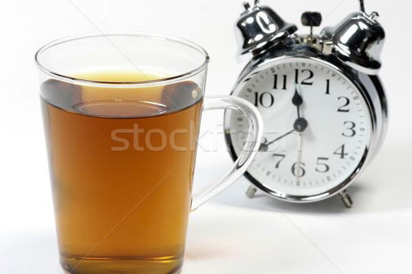 Insomnie tasse tisane réveil blanche dormir Photo stock © Saphira