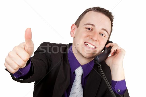 ビジネスマン 小さな 電話 ビジネス ストックフォト © Saphira