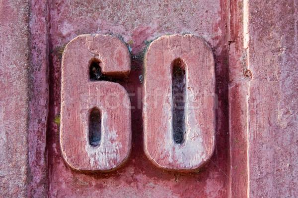 House number 60 Stock photo © Saphira
