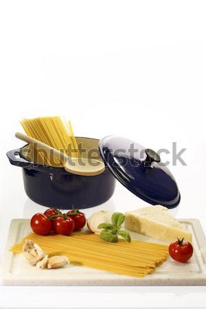 料理 スパゲティ 材料 トマトソース 食品 ディナー ストックフォト © Saphira