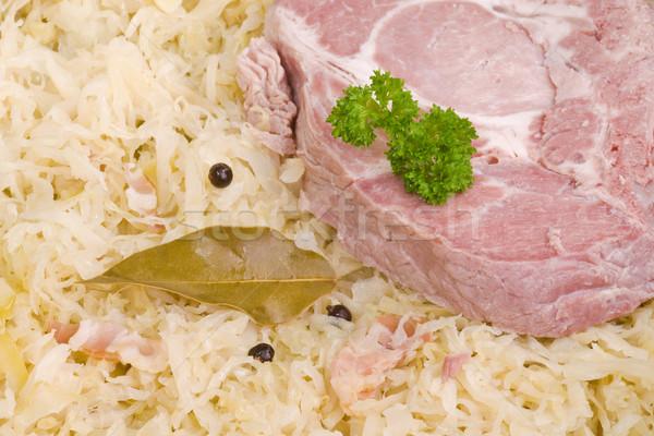 Loin ribs with sauerkraut Stock photo © Saphira