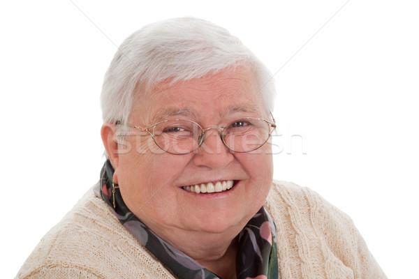 Portrait senior woman - horizontal format Stock photo © Saphira