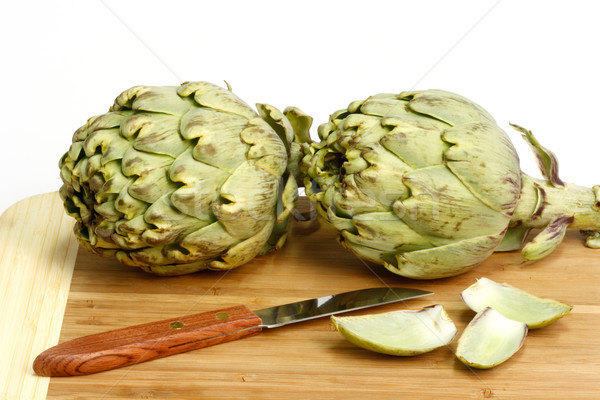 Preparation of artichokes Stock photo © Saphira