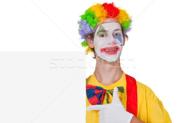 Advertising clown Stock photo © Saphira