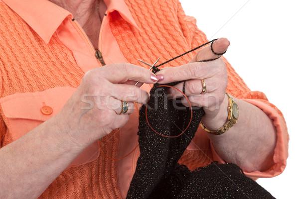 Knitting grandma Stock photo © Saphira