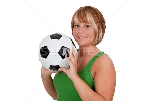 若い女性 サッカーボール 女性 笑顔 女性 ストックフォト © Saphira