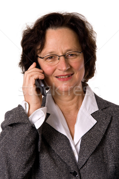 Woman with cell phone Stock photo © Saphira