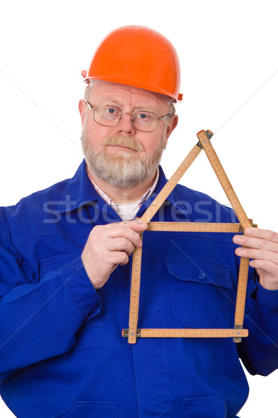 Craftsman with folding rule Stock photo © Saphira