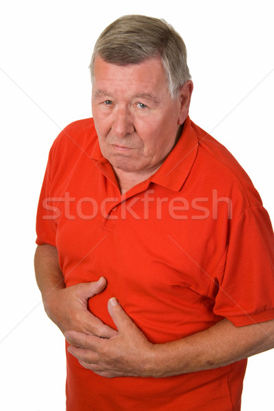 Old man with stomach ache Stock photo © Saphira