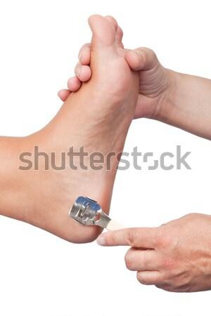 Remoção feminino pé mãos beleza pele Foto stock © Saphira