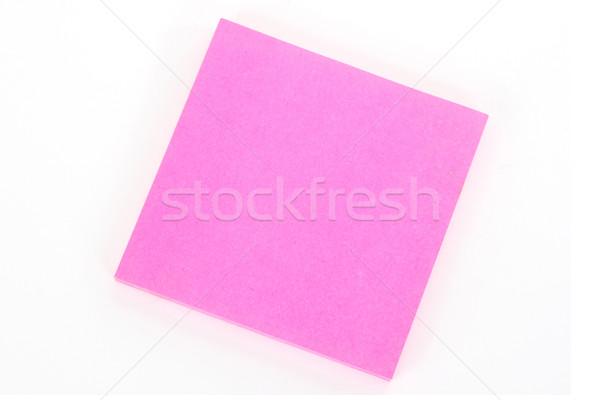 Notepad pink oblique Stock photo © Saphira