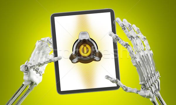 Interattivo schermo robot braccio Foto d'archivio © Saracin