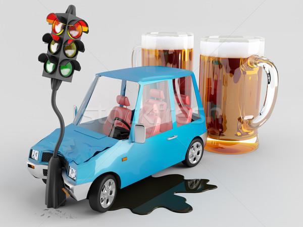 автомобилей чрезвычайных можете полезный аварии Сток-фото © Saracin