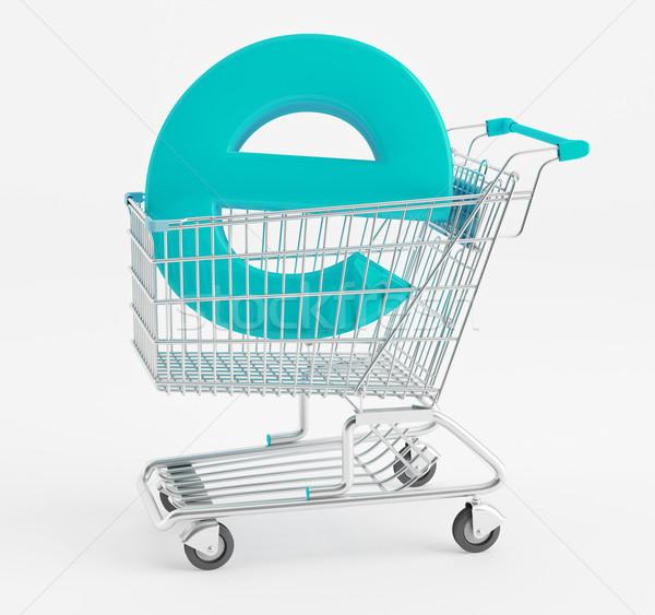 символ электронной коммерции Корзина бизнеса торговых Сток-фото © Saracin