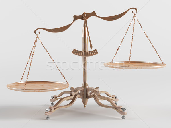 Old brass scales  Stock photo © Saracin