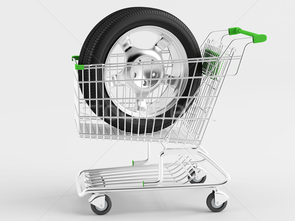 Purchase of automotive wheels Stock photo © Saracin