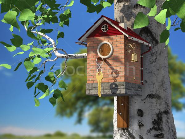 Elite birdhouse Stock photo © Saracin