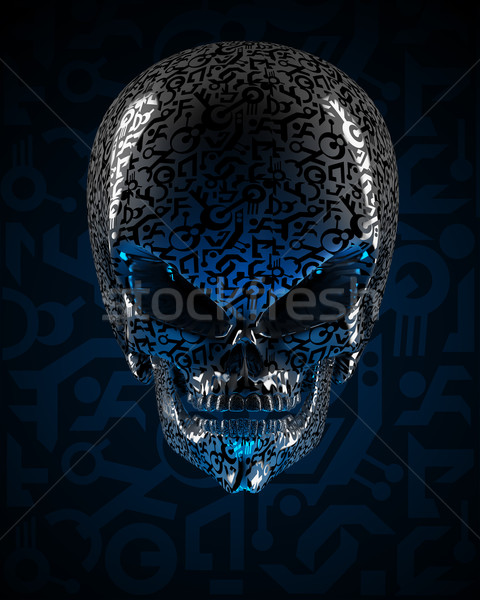 Alien skull Stock photo © Saracin