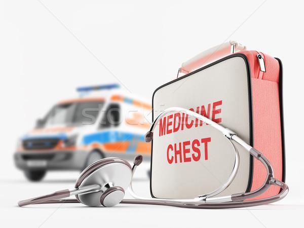 медицинская помощь первая помощь стетоскоп скорой работу Сток-фото © Saracin