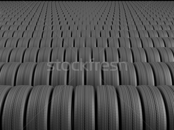 Rows of automobile tire Stock photo © Saracin