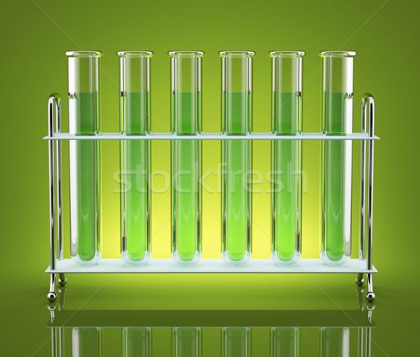 Трубы зеленый химикалии испытание синий цвета Сток-фото © Saracin