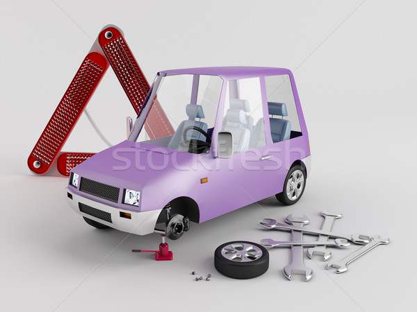 Replacement of wheels Stock photo © Saracin