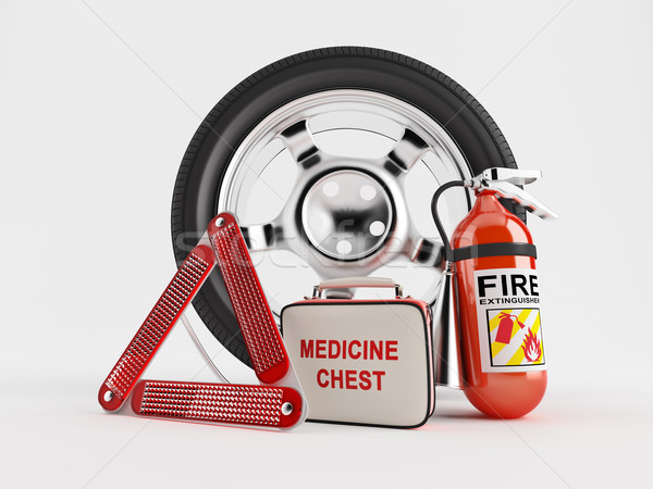 Car Emergency kit Stock photo © Saracin