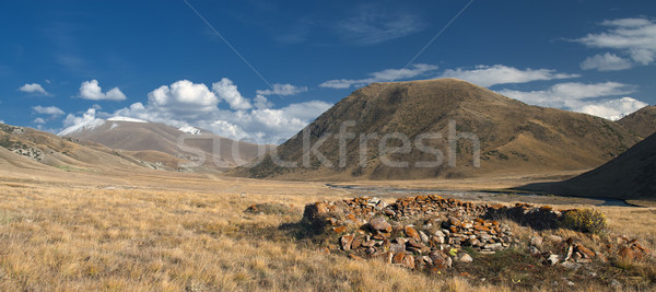 древних структуры руин зданий гор небе Сток-фото © Saracin