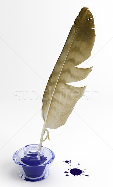 Quill and inkwell Stock photo © Saracin