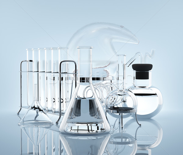 Equipment for chemistry experiments Stock photo © Saracin